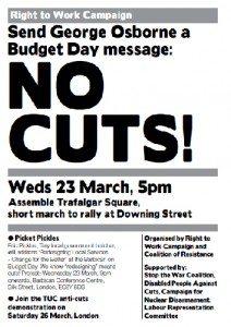 Budget day leaflet