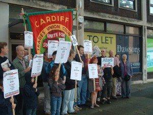 swansea Atos Protest